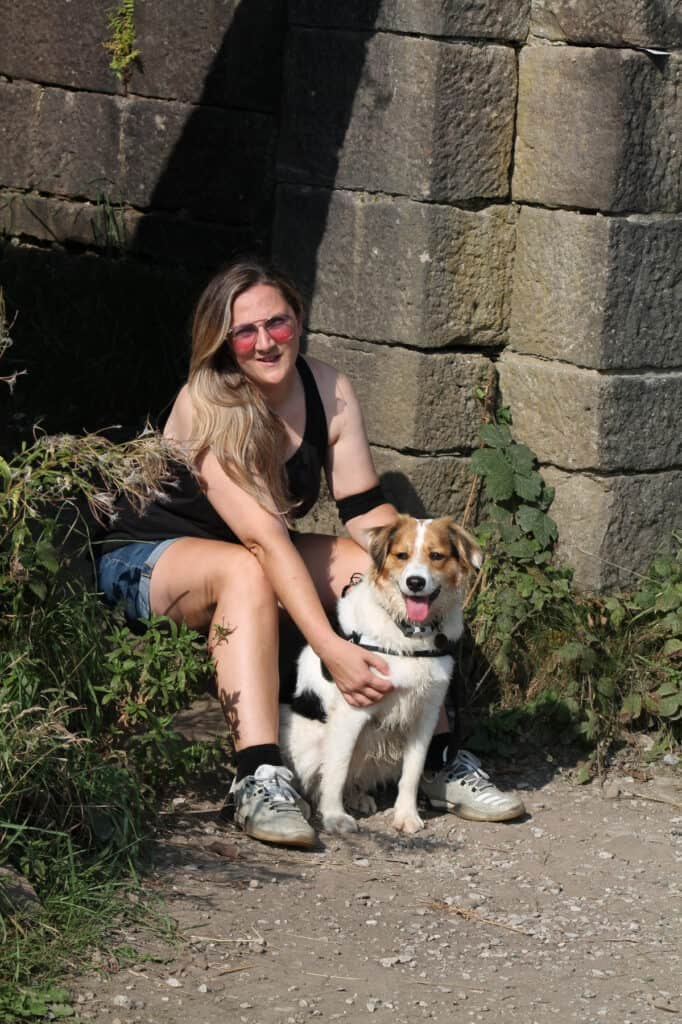 Helen Nuttall and her dog Sasha